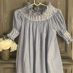 CHICWISH Blue and White Striped Top